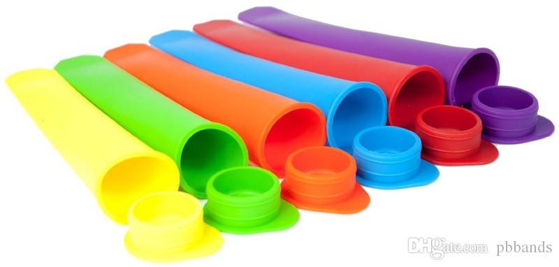 Silicone Ice Pop Maker Tube Tray Popsicle Mold Frozen Ice Cream Mould Maker with Lids Kitchen DIY Tools Children Gift
