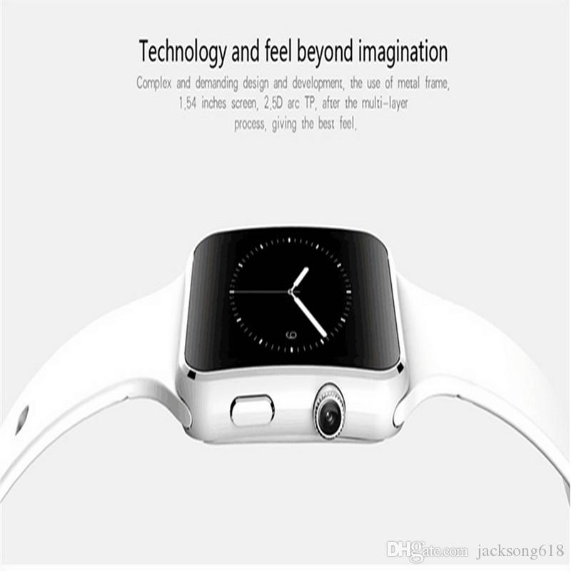 2017 Hot Sale hd Bluetooth Smart Watch X6 Smartwatch the Smartwatches For Android Phone With Camera Support SIM Card Wholesale