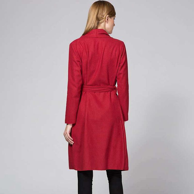 Kadınlar için 2017 Sonbahar Trençkot Katı Turn-aşağı Yaka Uzun Kollu Palto Bayan Giyim Casual Uzun Kadın Rüzgarlıklar