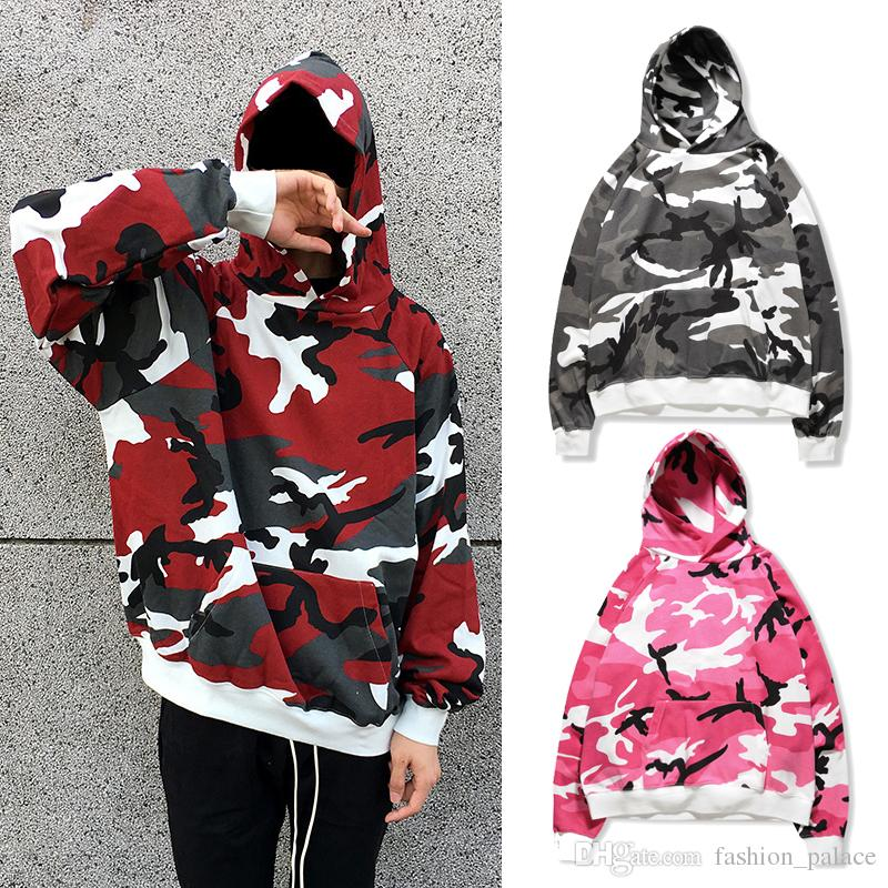bdf58844ed93 2019 New Camouflage Hoodie Men Women High Quality Cotton Pullover Hoodie  Fashion Oversized Hooded Sweatshirt Winter Casual Hooded Coat MJG1106 From  ...