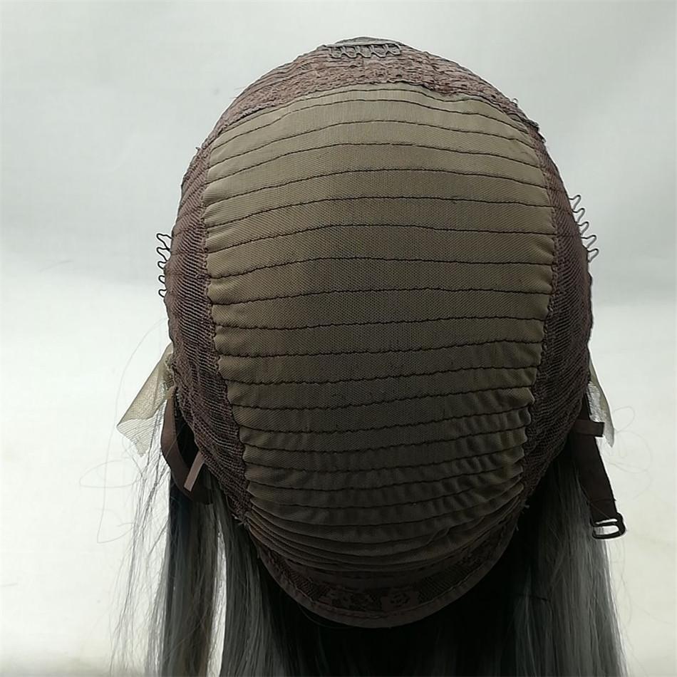 Kabell Moda perucas lave peruca dianteira Peruca Sintética Cor Branca Natural Ondulado Resistente Ao Calor Perucas Para As Mulheres de cabelo Branco cabelo Encaracolado perucas