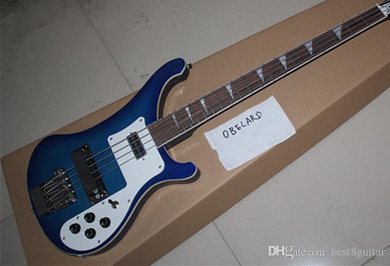 Best8guitar Commercio all'ingrosso di alta qualità Rick 4003 Blue 4 corde basso elettrico chitarra spedizione gratuita