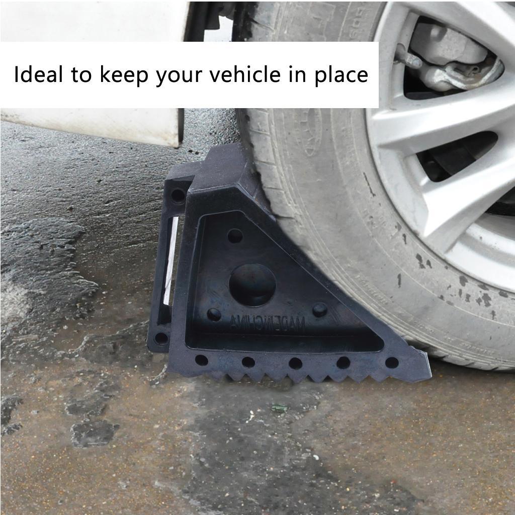 المطاط السيارات عجلة الساندة توقف وسادة غير زلق الطريق حاجز بلوك أداة الثقيلة 3 طن للسيارة