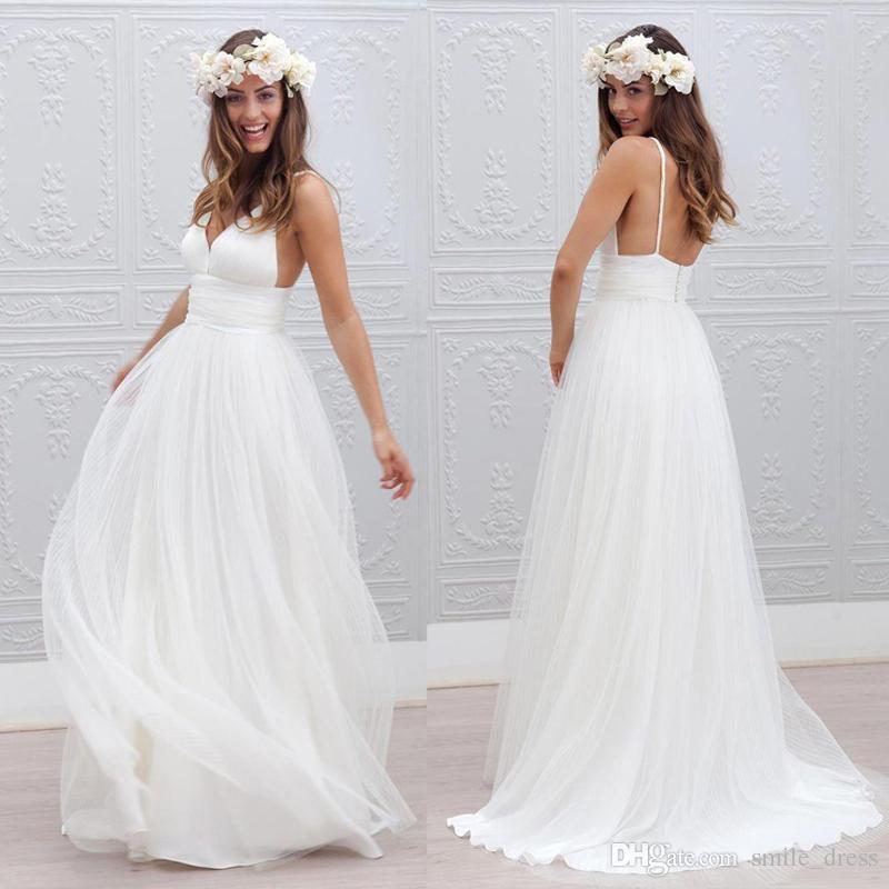 Vestido de casamento para noiva 2017 beach bohemian wedding dresses ver imagem maior junglespirit Gallery