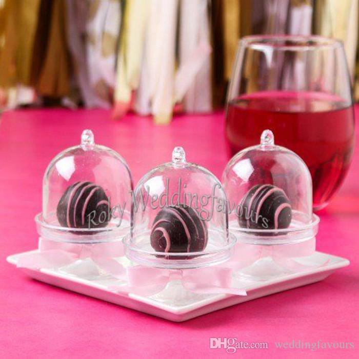 Wholesale Acrylic Clear Mini Cake Stand Baby Shower Wedding Favors