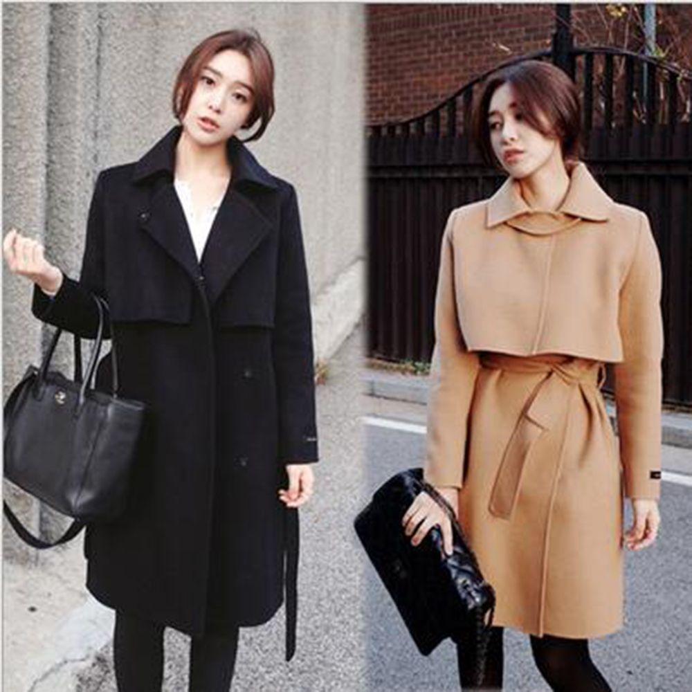 2018 New 2017 Korea Ladies Autumn Winter Slim Warm Wool ...