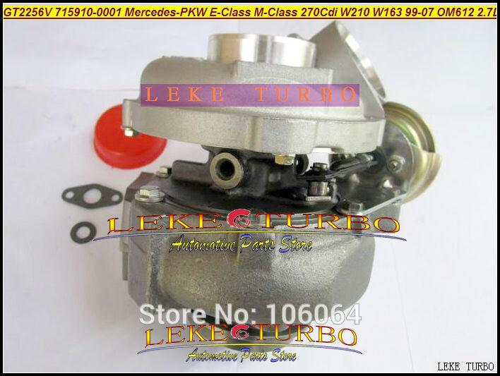 GT2256V 715910-5002S 715910 Turbo Turbocharger For Mercedes-PKW E-Class 270 CDI W210 M-Class W163 1999-07 OM612 2.7L 170HP (3)