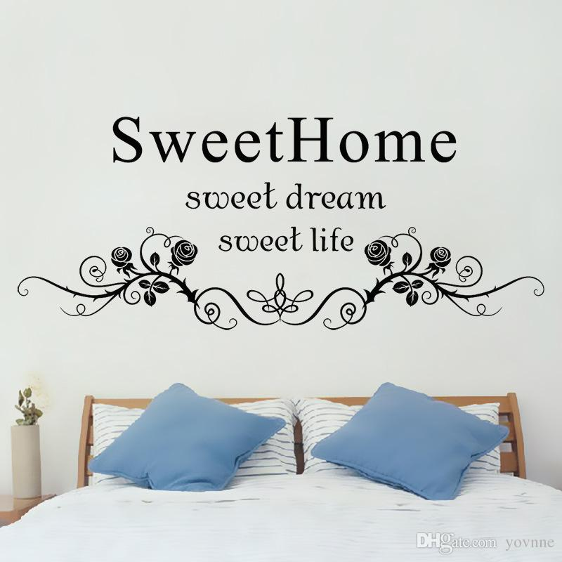 Sweet Home Wall Stickers Can Remove Sitting Room Bedroom Background  Adornment Waterproof Pvc English Wall Posters Home Wall Decal Home Wall  Decals From ...