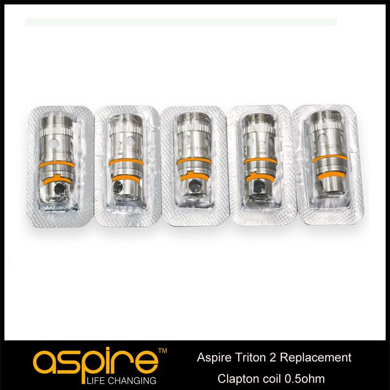 100% autentico Aspire tritone di ricambio RBA atomizzatore Bobina con testa a spirale Triton 0.3 / 0.4 / 1.8ohm e sezione RBA