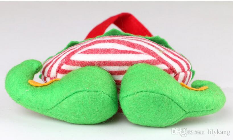 New XMAS GIFT Santa Pants Elf Spirit Boots Shoes Candy Gift Bag Sack Stocking Filler kids Favor Holders wedding Christmas Candy Bag
