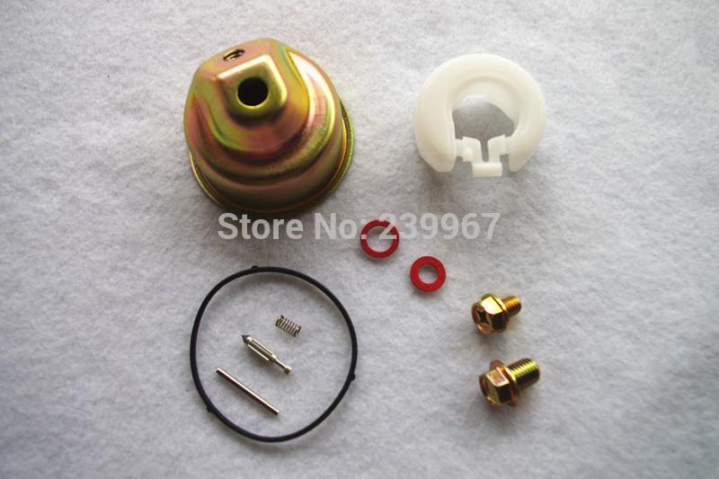 2X kit de reparação de Carb para GX120 GX120 GX120 GX140 GX200 GX200 GXV120-140-160 gaxeta bacia flutuador pin parafuso de lavagem da válvula da agulha primavera