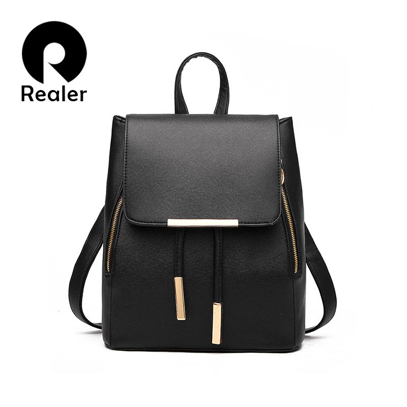 b10d64ee50 Wholesale New Designer Women Backpack For Teens Girls Preppy Style School  Bag PU Leather Backpack Ladies High Quality Black Rucksack College Backpacks  Girl ...