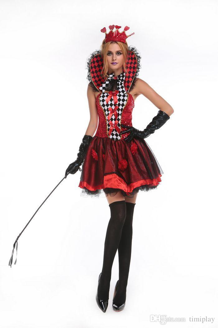 Party Déguisements Costume Jouer À Dress Sexy Carte Femmes Halloween Vêtements Queen S Mini Casino Poker yf7vbY6g