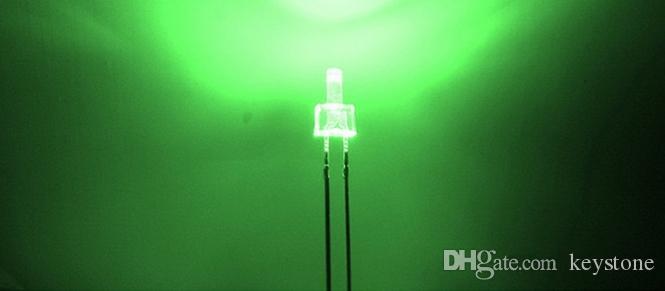tour forme eau claire 2mm diode LED rouge / vert / bleu / blanc / jaune / blanc chaud chaque