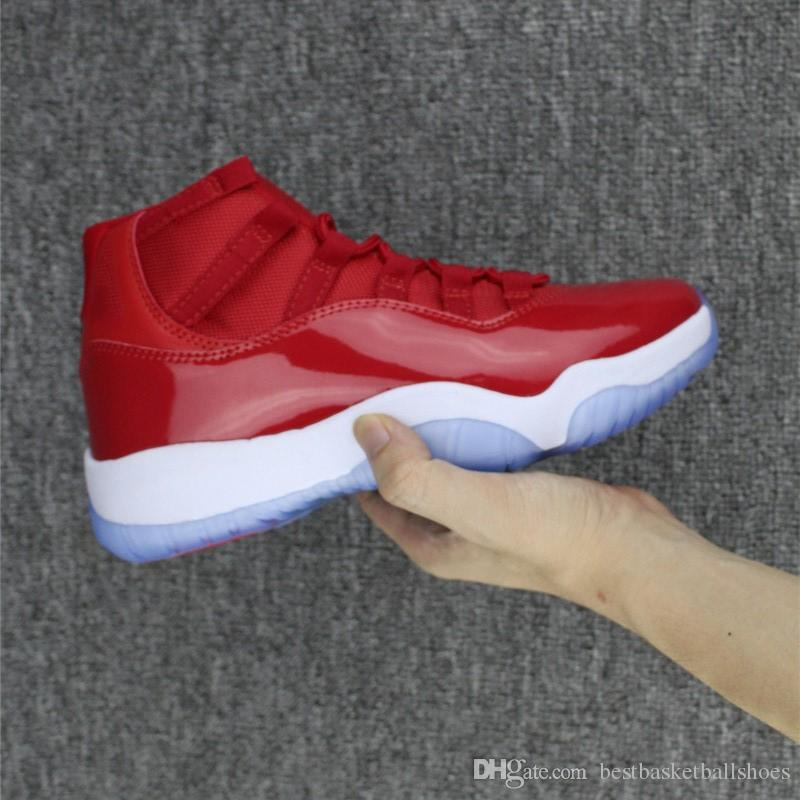 aff48b50180 2018 Gym Red Men Basketball Shoes 11 GS Barons White Olympic Concord Gamma  Blue Varsity Red Navy Gum Sneaker Metallic Gold Sneakers Jordans Shoes Sport  ...
