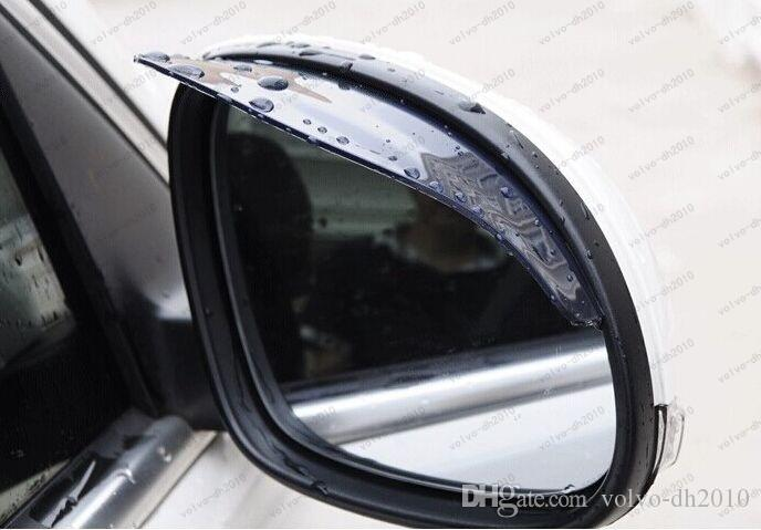 Universal Flexible PVC Car Accessories Rearview Mirror Rain Shade Rainproof Blades Car Back Mirror Eyebrow Rain Cover LLFA
