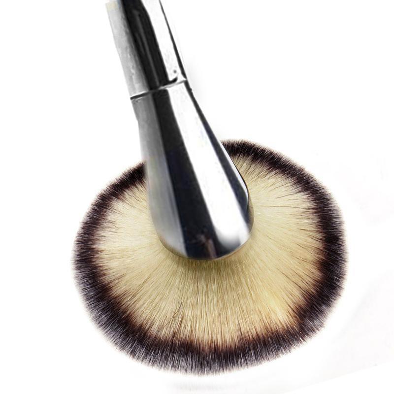 Single Big Universal Makeup Brush Blush Face Powder Loose Powder Foundation Silver Color Handle Cosmetic Large Make Up Brushes