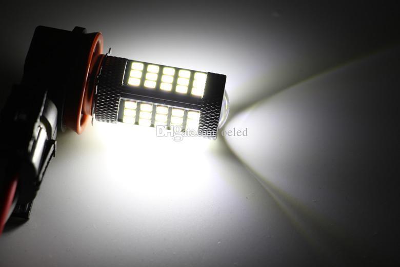 Super helle 2 Teile / los H11 12 V 30 Watt 63SMD Neue Auto Weiß Glühbirnen 6000 Karat 2845 LED Projektor LEN Nebelscheinwerfer Fahrlicht