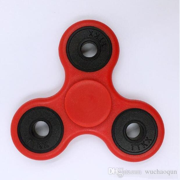 Hot Toy EDC Hand Spinner Fidget Toy Buena elección para la ansiedad de descompresión Juguetes con los dedos Tiempo de matar HandSpinner Top triangular del dedo