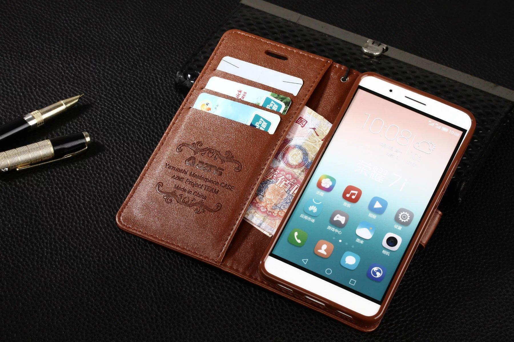 멋진 화웨이 7i 케이스 럭셔리 플립 지갑 원래 귀여운 슬림 커버 클립 가죽 케이스 화웨이 명예 7i 샷 X