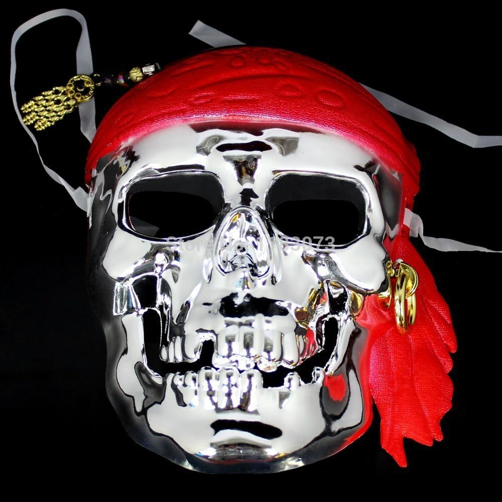 Pirates Of The Caribbean Pirate Skull Mask Scream Scary Full Face ...