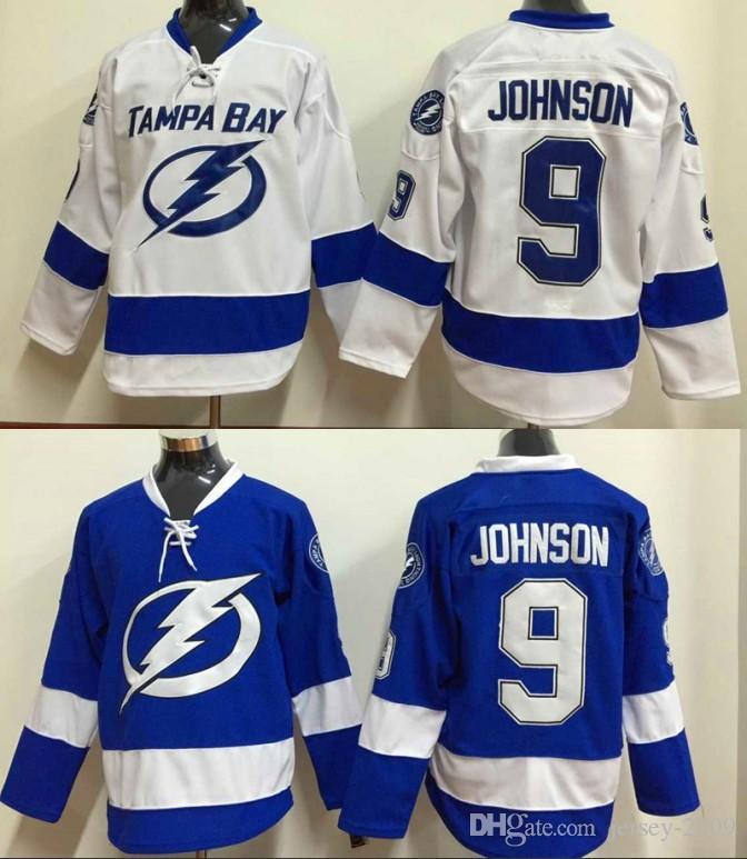 2019 2016 Men Tampa Bay Lightning Ice Hockey Jersey  9 Tyler Johnson Blue  White Black C Patch Stitched Jerseys From Jersey 2009 197ea243d1a