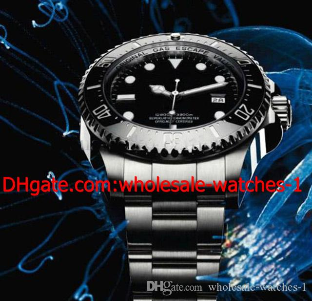 Großhandel - Luxus Automatic Mens Watch 44mm Keramik Lünette 116660 Dive Herrenuhren