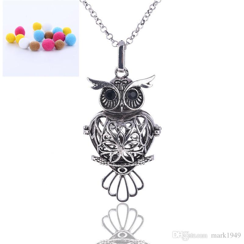 Owl shaped diffuser necklaces aromatherapy pendant essential oil owl shaped diffuser necklaces aromatherapy pendant essential oil diffuser necklace pendants diffuser locket necklace diffuser necklaces aromatherapy pendant aloadofball Gallery