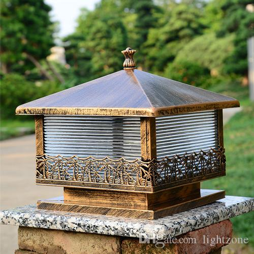 2019 Led Outdoor Pillar Lights European Vintage Style