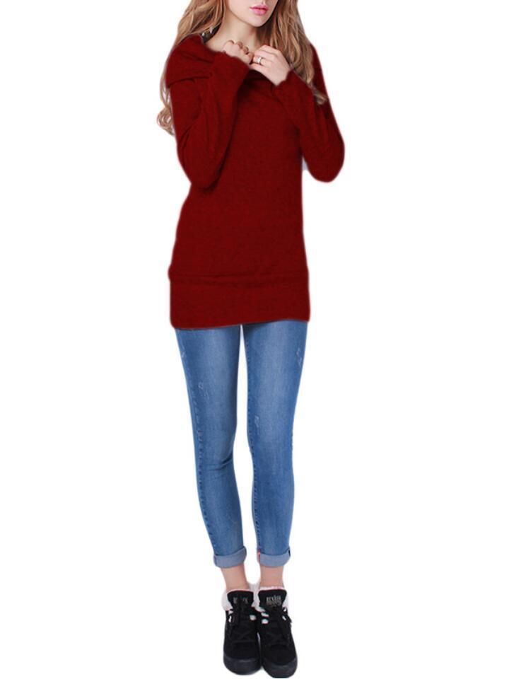 WayToIan Hot Maglioni Maglione lavorato a maglia Maglione Donna Maglione Maglione Donna Maglioni Pull Femme Inverno Manica lunga Lana Donna