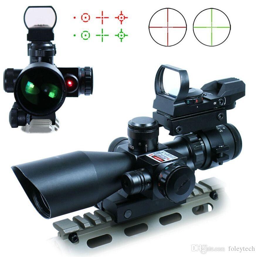 Nuovo mirino tattico 2.5-10X40 con mirino laser rosso verde olografico