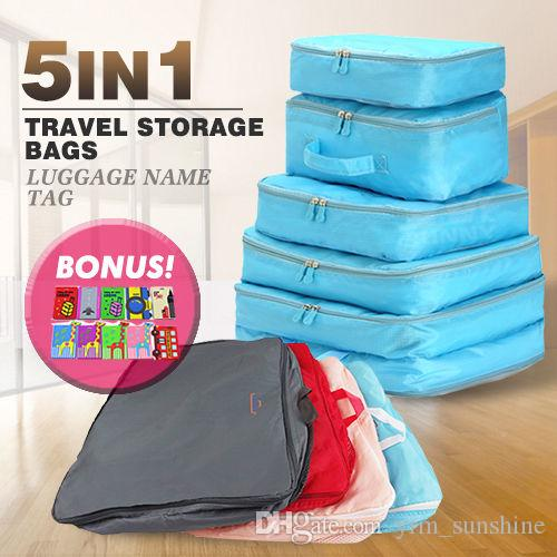 4a70439b199c Packing Cube Pouch Suitcase Clothes Storage Bags Travel Luggage Organizer  Straw Handbags Small Purse From Yrm sunshine
