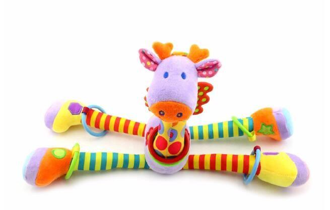 Nova 37 cm Girafa Atividade Espiral baby bed pram brinquedos pendurados carrinho de bebê brinquedo infantil presentes de pelúcia produto Frete grátis