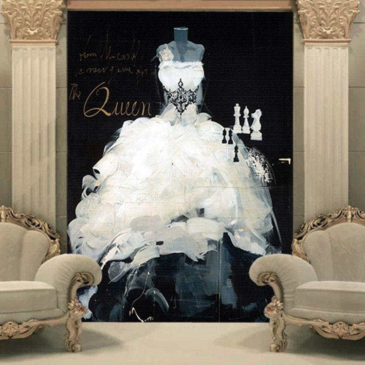 Home Design 3d Gold Ideas: Custom 3D Wallpaper Wedding Dress Wall Mural Vintage Photo