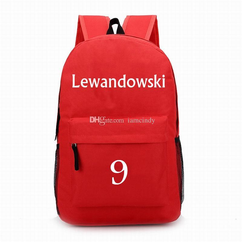 nuovo di zecca 3f032 06087 Munchen Robert Lewandowski zaini borse da calcio stella borse bambini  studente zainetto per ragazze adolescenti