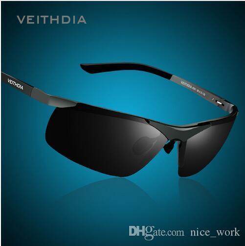 VEITHDIA Männer Herren polarisierte Anti UV Sonnenbrillen Goldrahmen HuGS79t6Fn