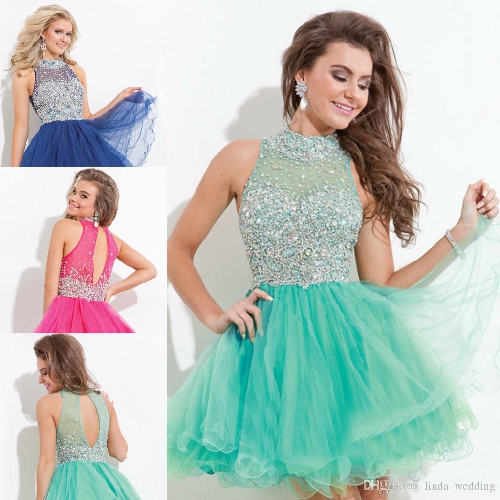 Vestido verde com azul marinho