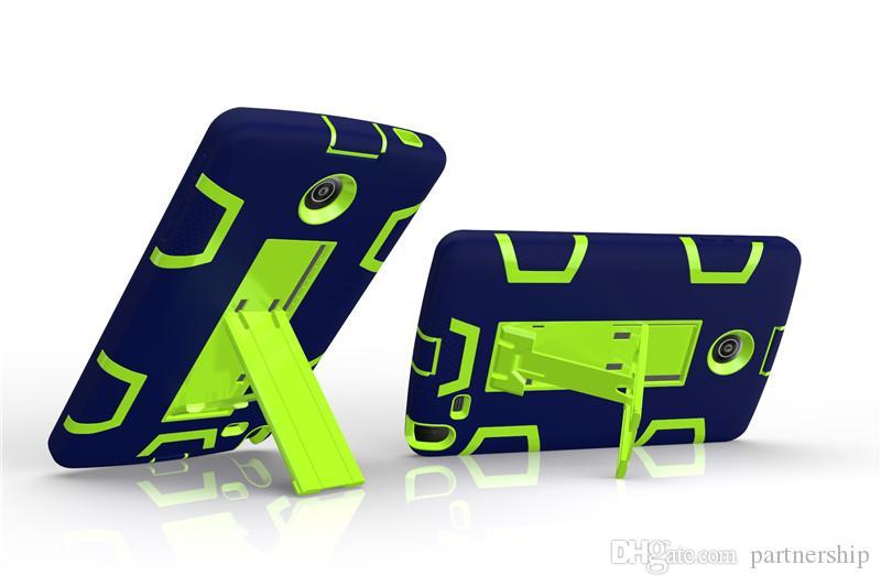 3 en 1 funda de silicona + PC para LG G Pad2 Pad3 8.0 V498 V495 V496 V525 V521 V520 armadura cubierta de pata de Kick Heavy Duty para Kindle Fire 7