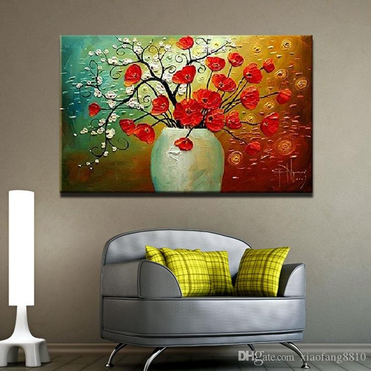 100% Hand made Oil Painting On Canvas Palette Knife Flower Paintings Modern Decoration Painting Canvas Wall Art Picture