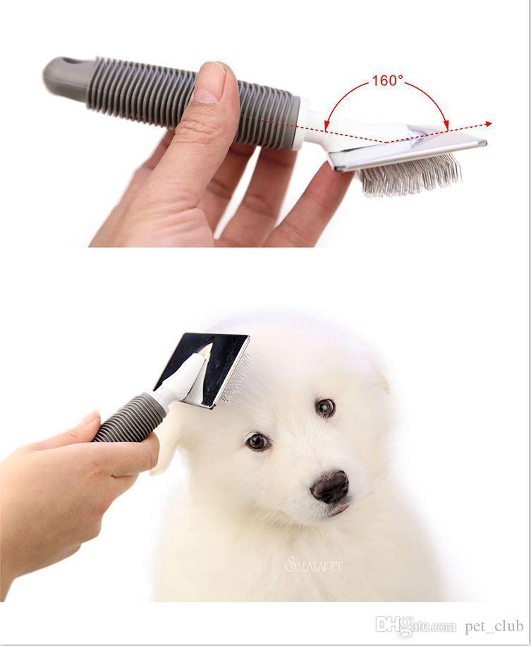 Köpek Fırça Paslanmaz Çelik Tımar Aracı Için Kedi Pet Uzun Saç Kısa Saç Köpek Pet Ücretsiz Nakliye Için Uzman Tarak