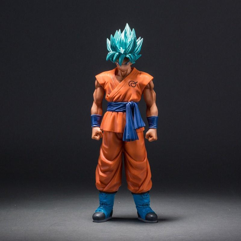 Dragon Ball Z Супер Сайян Бог Сын Гоку фигурку синие волосы Гоку 26 см Dragon Ball ПВХ коллекция модель игрушки куклы