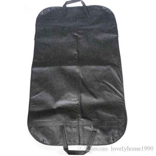 Vestido preto Garment Armazenamento Garment Suit Capa de Viagem Protetor Cabide Protetor de Cael Cabide ProSuit Casaco Capa de Viagem Protetor de Cabide Transportadora Saco