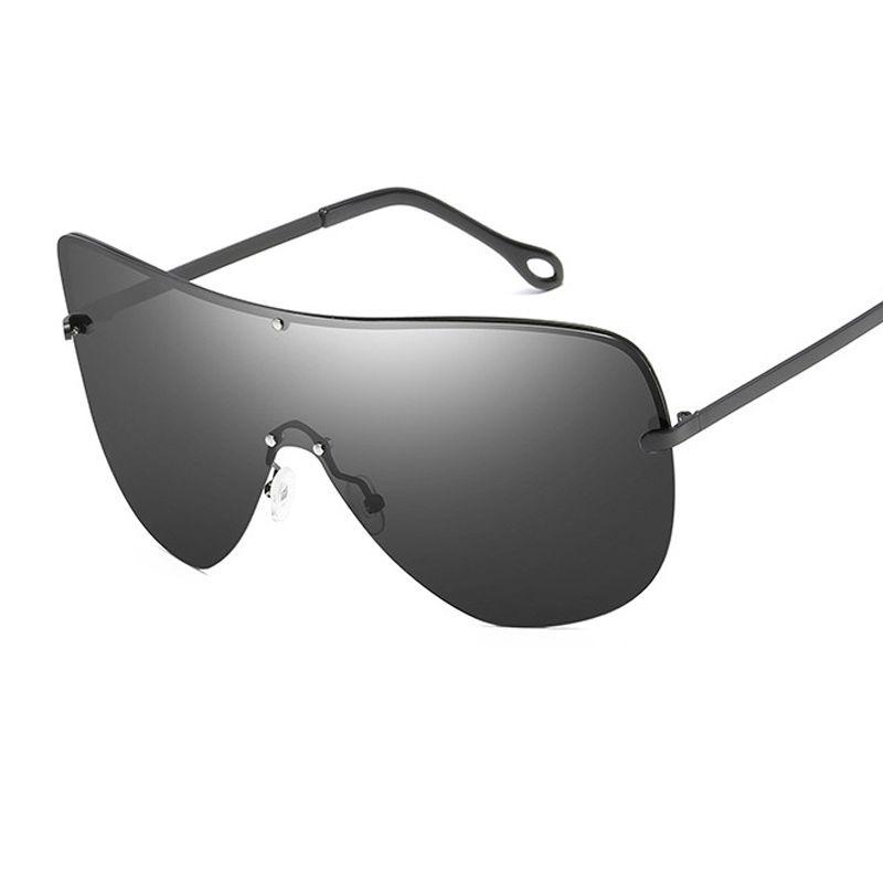 1258b02f620 Fashion Metal Frame Polarized Sunglasses Oversized Big Sunglasses Women Men  Super Goggles Integrated Lens UV400 Y200 Glasses For Men Mens Eyeglasses  From ...