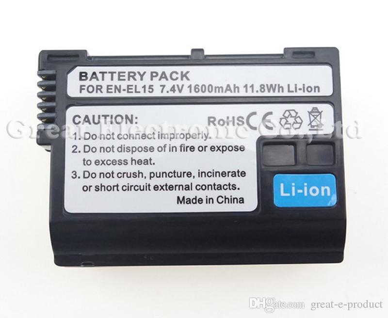 EN-EL15 ENEL15 rechargeable replacement digital camera camcorder lithium Battery for Nikon D7000 D800 E MB-D12 MB-D11 V1,drop shipping