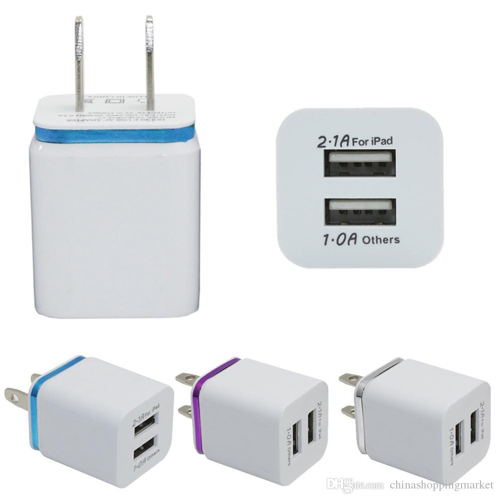 Good Quality Us Eu Travel Home Wall Usb Charger Plug Adapter Wall Charger Plug 2 Port For Samsung Galaxy Note Lg Tablet Ipad Online With 0 98 Piece On