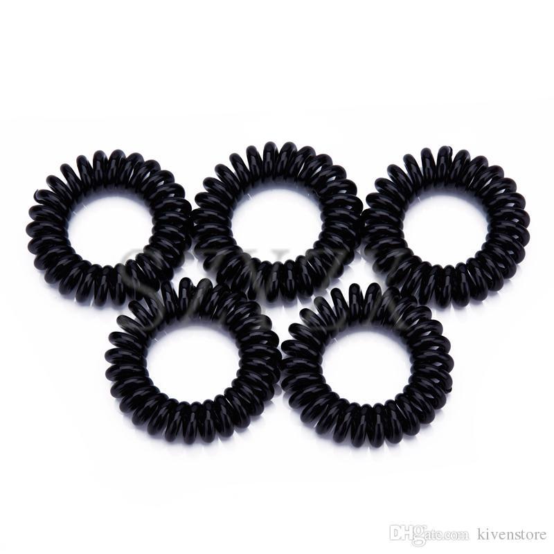 2019 venda quente acessórios femininos, corda de cabelo transparente, bandas de cabelo anel de cabelo de alta qualidade para a menina
