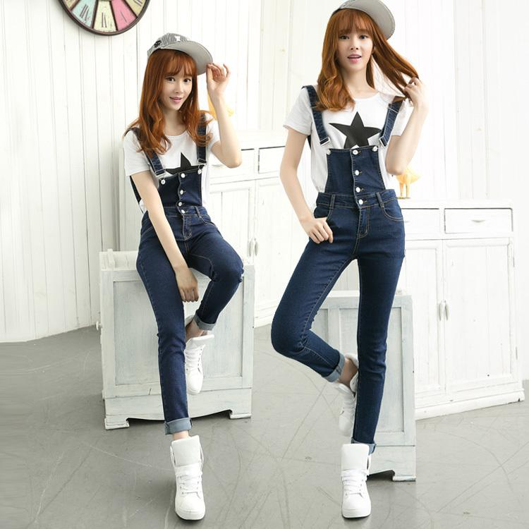 bee462ffda 2019 Autumn Siamese Female Jeans Loose Large Size Thin Denim Overalls Strap  Trousers Feet Pants Denim Jumpsuits   Rompers Women From Adidasstore