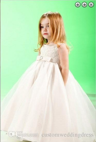 Fantasia Infantil Appliques Actual Images Tank Organza New 2018 Bride Wedding Party Girl's Pageant Gowns Long flower Girl Dress