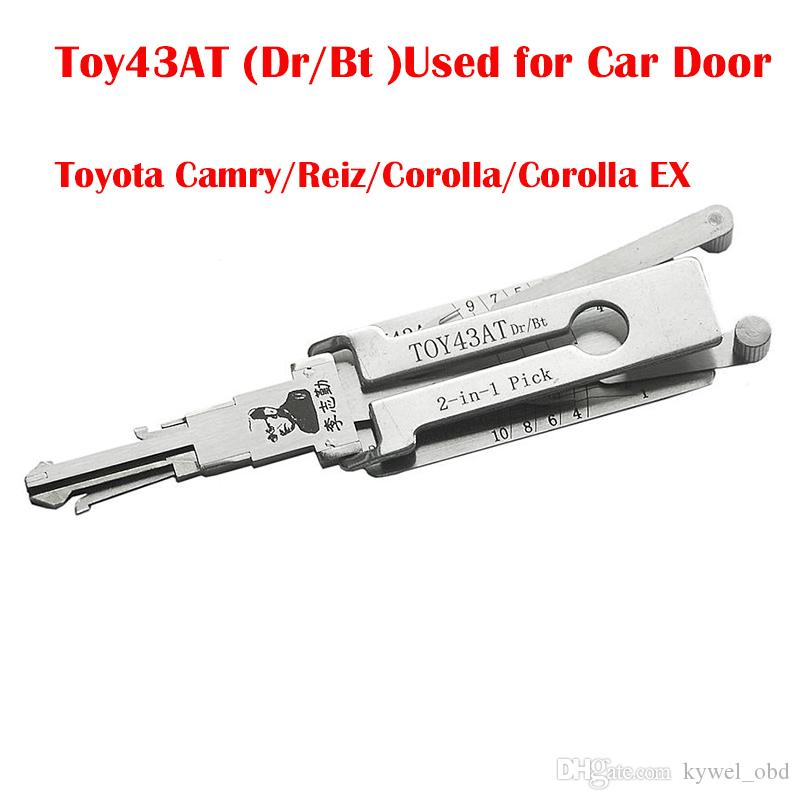 Lishi TOY43AT Dr/ Bt 2-in-1 Auto Pick and Decoder Used to Open the Car Door for Toyota Camry/Reiz/Corolla/Corolla EX Locksmith Tools