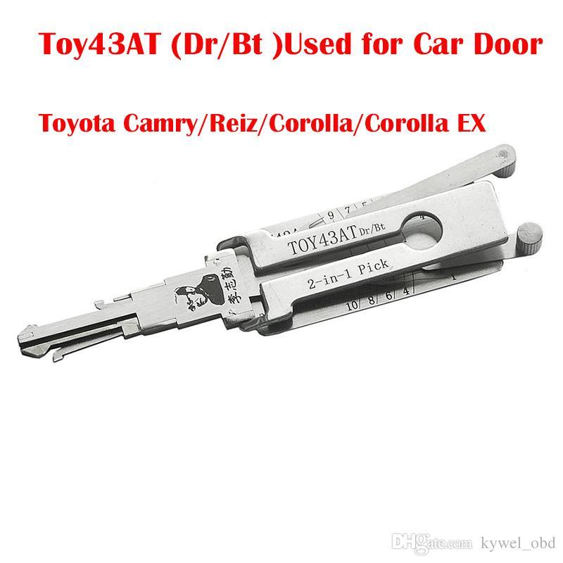 Lishi TOY43AT Dr / Bt 2-in-1 Otomatik Çekme ve Dekoder için Kullanılan Toyota Camry için Araba Kapı / Reiz / Corolla / Corolla EX Çilingir Araçları